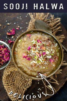 Indian Dessert Recipes, Ethnic Recipes, Indian Recipes, Semolina Pudding, Yummy Snacks, Super Easy, Breakfast, Dojo, Guys