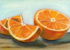 paintings of oranges | Orange Painting by Sarah Lynch - Orange Fine Art Prints and Posters ...