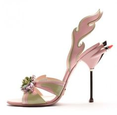 This is the Pink Cadillac of shoes... Awesome! #Prada #shoes