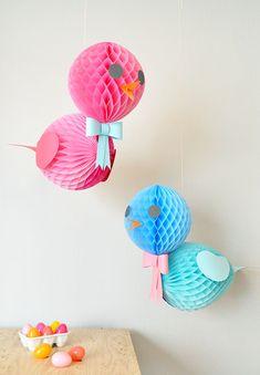 DIY Honeycomb Birds   Oh Happy Day!