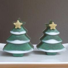 Christmas Tree Soap Holiday Soap Gift Christmas by TheBathofKhan $4.00