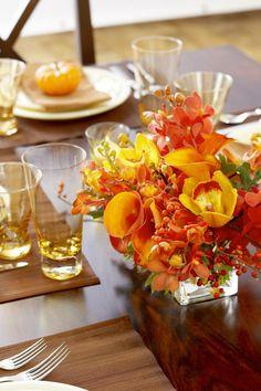 Ideas de centros de mesa para el Día de Acción de Gracias