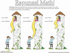 Worksheets: How Long Is Rapunzel's Hair?