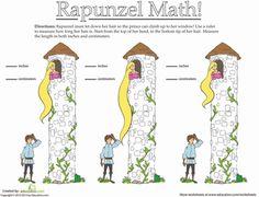 Worksheets: How Long Is Rapunzel's Hair?