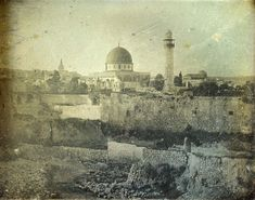 Since 1844, millions of photographs have probably been taken of Jerusalem. But these blurry snaps are the very first.