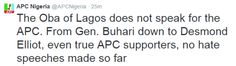NIGERIAN TOP SECRET: APC condemns Oba of Lagos comments, says he does n...