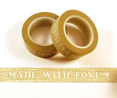 """Masking Tape - Washi Tape """"Made with Love"""" - ein Designerstück von ApfelZimtMuffin-Shop bei DaWanda"""