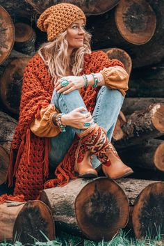 Hippie Style, Bohemian Style Clothing, Boho Hippie, Bohemian Clothing, Bohemian Fashion Styles, Style Outfits, Hippie Outfits, Mode Outfits, Bohemian Fall Outfits