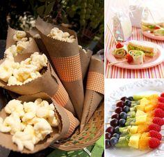 4 receitas e dicas de opções saudáveis pro cardápio da sua festa - Maternidade Colorida