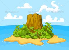 Realistic Graphic DOWNLOAD (.ai, .psd) :: http://jquery.re/pinterest-itmid-1005526830i.html ... Volcano Island ...  art, background, bush, desert, exotic, green, holiday, illustration, island, land, landscape, nature, oasis, ocean, of, outdoor, palm, paradise, pirate, sand, sea, treasure, tree, tropical, vacation, vector, volcano, water  ... Realistic Photo Graphic Print Obejct Business Web Elements Illustration Design Templates ... DOWNLOAD…