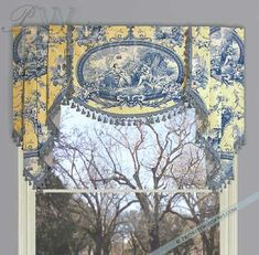 toile designs | This valance shows the importance of working with your fabric to get ...