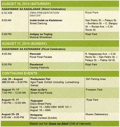 Kadayawan 2014 Schedule of Activities | Way Philippines