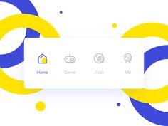 TAB bar display on Behance Flat Design Icons, App Icon Design, Ui Design Inspiration, Logo Design, Design Ideas, Layout, Web Design Tutorial, Icon Gif, Bar Displays
