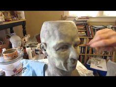 Paper Mache Head, Part 1 - YouTube