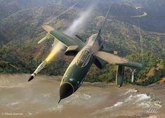 All Out Warrior, by Mark Karvon - F-105 Thunderchief