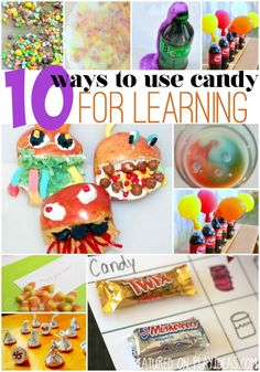 Some of the most fun ways to use candy for learning. A sure way to keep your child's attention as you play and learn together!