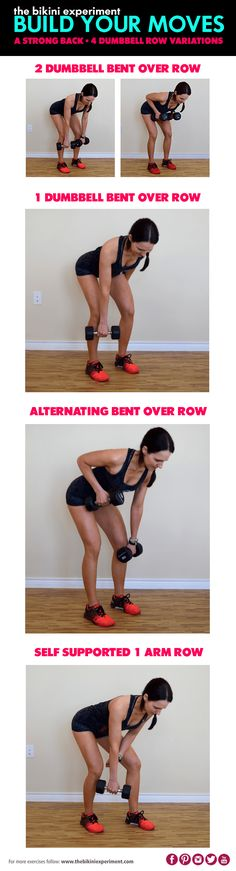 A dumbbell row is an