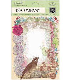 K & Company Acetate Frames - 10PK/Jubilee: papercrafting coordinates: scrapbooking: Shop | Joann.com