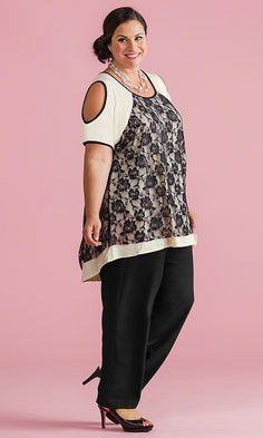 Lace Cold Shoulder Tunic / MiB Plus Size Fashion for Women / Spring Fashion  http://www.makingitbig.com/product/4975