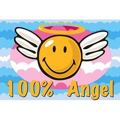 Novelty rug will brighten any playroom or bedroom Accent rug is machine-made of polyester Smiley face angel theme will add fun to any home decor Machine-made of polyester Primary Color: Yellow Pattern