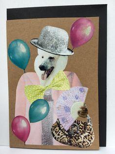 collage art card / collage kunst  kaart handmade by Linda van Deursen € 3,50