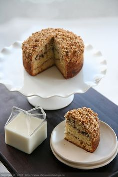"Chocolate and Cinnamon Swirl Coffee Cake - Sure, ""coffee cake,"" this is, but I'd make it for dessert.  Yum!"