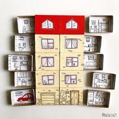 03.05.2020 - Домики из спичечных коробков #поделки Fun Crafts, Diy And Crafts, Crafts For Kids, Arts And Crafts, Paper Crafts, Matchbox Crafts, Matchbox Art, Diy With Kids, Paper Toys