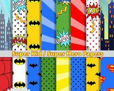 This item is unavailable | Etsy Superhero Alphabet, Superhero Spiderman, Superhero Party, Alphabet Letters, Batgirl, Wonder Woman, Pennant Banners, Scrapbook Paper, Scrapbook Layouts