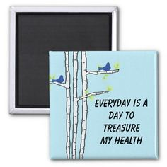 Birch Trees with Health Message