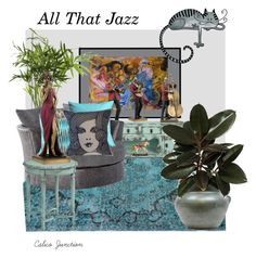 """All That Jazz"" by calicojunction ❤ liked on Polyvore featuring interior, interiors, interior design, home, home decor, interior decorating, NOVICA, Magnolia Home, PLANT and Handle"