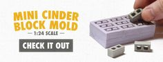 new 1:24 scale cinder block molds