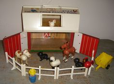 Fisher Price Barn 1967 Vintage Toy Collectible by TheBackShak, $47.00