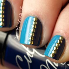 Nail Art - Studs! Love this look