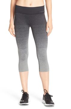 These chic capri leggings boast a seamless, compressive fit for comfort and cool ombré shading.