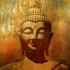 bouddha dessin: Tête de Bouddha dans le style grunge