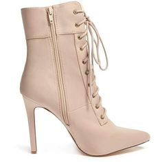 fc86d074653 Forever21 Pointed Toe Stiletto Boots ( 38) ❤ liked on Polyvore featuring  shoes