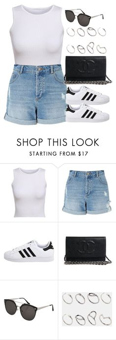 """Sin título #12786"" by vany-alvarado ❤ liked on Polyvore featuring Miss Selfridge, adidas Originals, Topshop and ASOS"