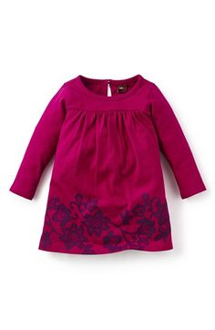 Tea Collection 'La Puntilla' Floral Print Long Sleeve Dress (Baby Girls) available at #Nordstrom