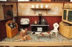 Uralte Puppenküche, ca Jahrhundertwende, mit viel Inhalt  | eBay