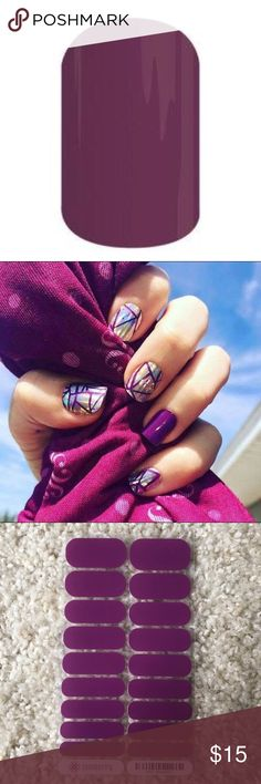 """Jamberry nail wraps """"boysenberry"""" NIP Jamberry nail wraps """"boysenberry"""" NIP looks great paired with other wraps! I have shattered glass shown in 2nd pic! Bundle and save! Jamberry Makeup"""