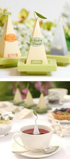 Personalized tea sachets - wedding favors