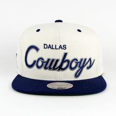 Dallas Cowboys White Script SNAPBACK (Green Under) c471512a1