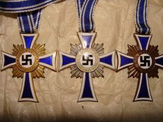 reichs mothers cross in Gold silver & bronze