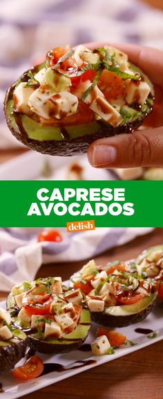 Caprese Stuffed AvocadosDelish