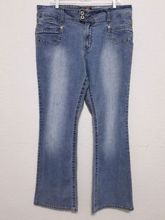 """Angels - Women's Jeans - Size 38"""" x 31 1/2"""" Blue Stonewash Stretch Denim Pants Bootcut #Angels #BootCut ..... Visit all of our online locations.....  www.stores.eBay.com/variety-on-a-budget .....  www.stores.ebay.com/ourfamilygeneralstore .....  www.etsy.com/shop/VarietyonaBudget .....  www.bonanza.com/booths/VarietyonaBudget .....  www.facebook.com/VarietyonaBudgetOnlineShopping"""