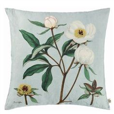 Shop Paeonia Albiflora Celadon Pillow from John Derian at Horchow, where you'll find new lower shipping on hundreds of home furnishings and gifts. Linen Pillows, Linen Bedding, Decorative Pillows, Throw Pillows, Bed Linen, Comforter, Wallpaper Samples, Fabric Wallpaper, Cushions Online