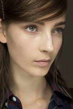 Spring 2015 beauty - At Jil Sander, skin was luminous and features softly defined by Pat McGrath and her team.