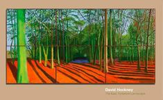 Louver, Venice, CA 9 February - 24 March 2007 Foreword by Peter Goulds and a text by David Hockney. 74 pages Hardback East Yorkshire Landscape exhibition page David Hockney Prints, David Hockney Landscapes, David Hockney Artist, David Hockney Paintings, Landscape Drawings, Landscape Art, Landscape Paintings, Dark Tree, Pop Art Movement
