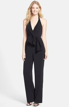 1904f558beac Cynthia Steffe  Madison  Knot Front Crepe Halter Jumpsuit available at   Nordstrom Halter Jumpsuit