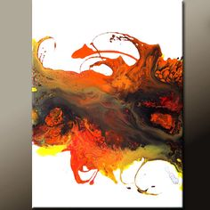 Abstract Painting 18x24 Original Contemporary Canvas by wostudios, $69.00